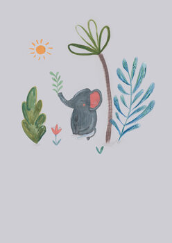 Illustration Jungle elephant