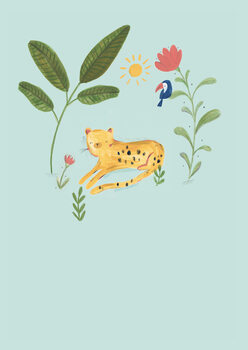 Illustration Jungle leopard