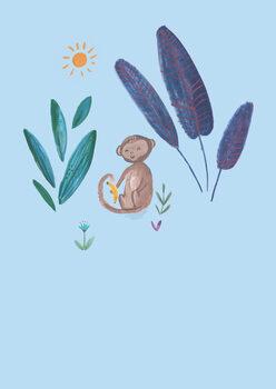 Illustration Jungle monkey