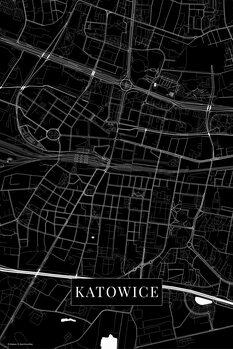 Map Katowice black