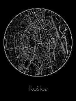 Map of Košice