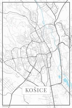 Map of Kosice white