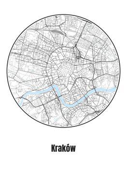 Map of Kraków