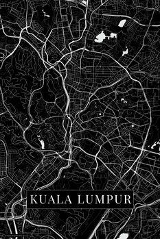 Map of Kuala Lumpur black