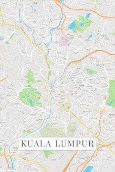Map of Kuala Lumpur color