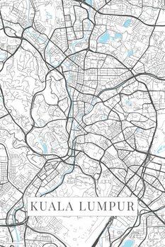 Map of Kuala Lumpur white