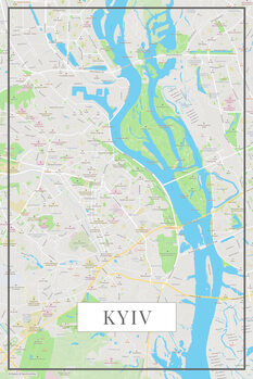 Map of Kyiv color