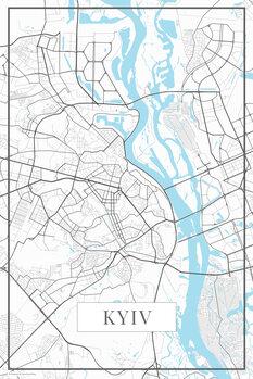 Map of Kyiv white