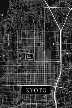 Map of Kyoto black
