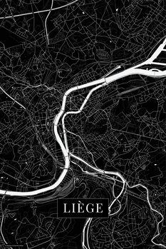 Map of Liege black