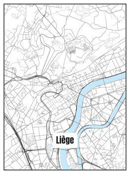 Map of Liège