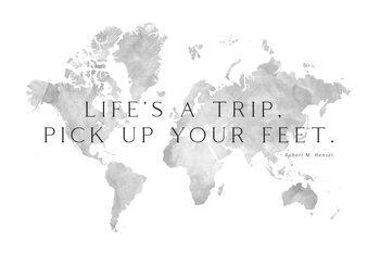 Illustration Life's a trip world map