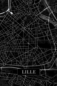 Map of Lille black