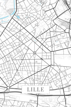 Map Lille white