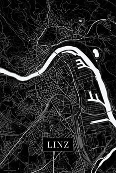 Map of Linz black