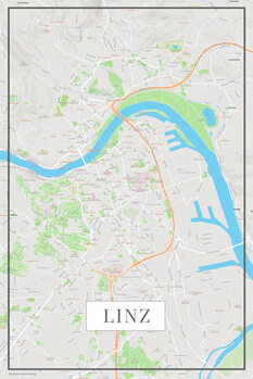 Map of Linz color