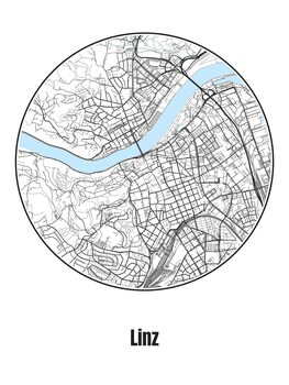 Map of Linz