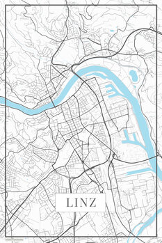 Map of Linz white