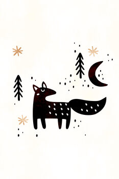 Illustration Little Winter Fox