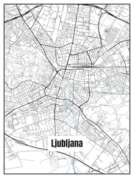 Map of Ljubljana