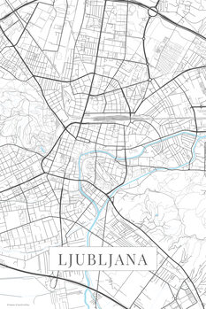 Map of Ljubljana white