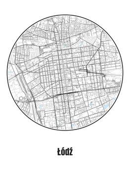 Map of Łódź