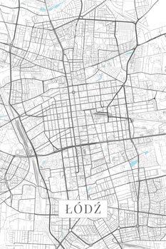 Map of Lodz white