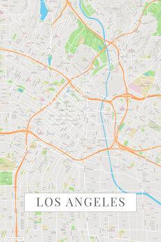Map Los Angeles color