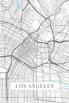 Map Los Angeles white