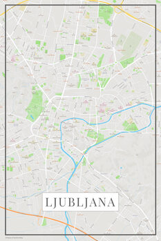 Map of Lubljana color