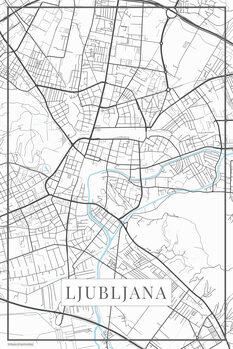 Map of Lubljana white