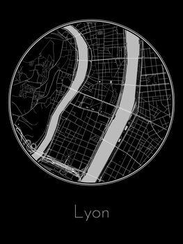 Map of Lyon