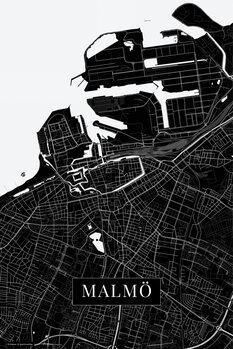 Map of Malmo black