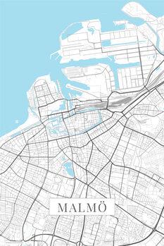 Map Malmo white