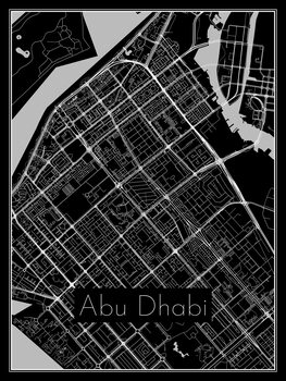 Illustration Map of Abu Dhabi
