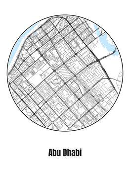 Illustration Map of Abu Dhabi