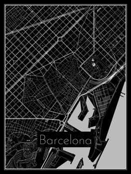 Illustration Map of Barcelona