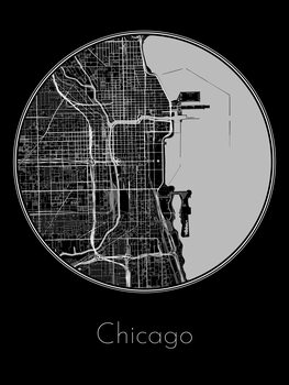 Illustration Map of Chicago