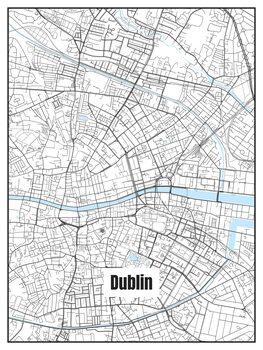 Illustration Map of Dublin