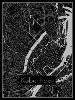Illustration Map of København