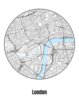 Illustration Map of London