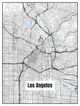 Illustration Map of Los Angeles