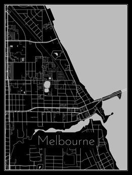Illustration Map of Melbourne