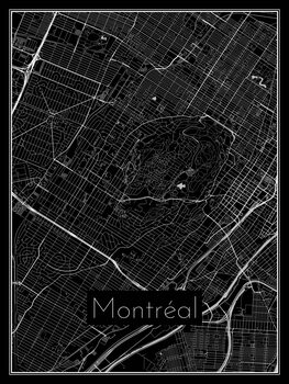 Illustration Map of Montréal