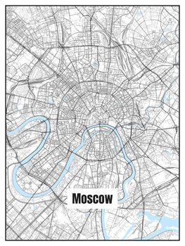 Illustration Map of Moscow