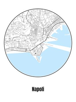 Illustration Map of Napoli
