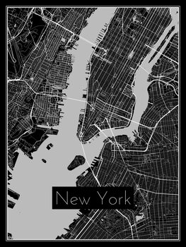 Illustration Map of New York