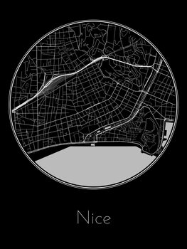 Illustration Map of Nice