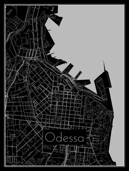 Illustration Map of Odessa