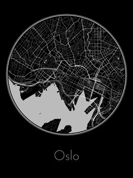 Illustration Map of Oslo